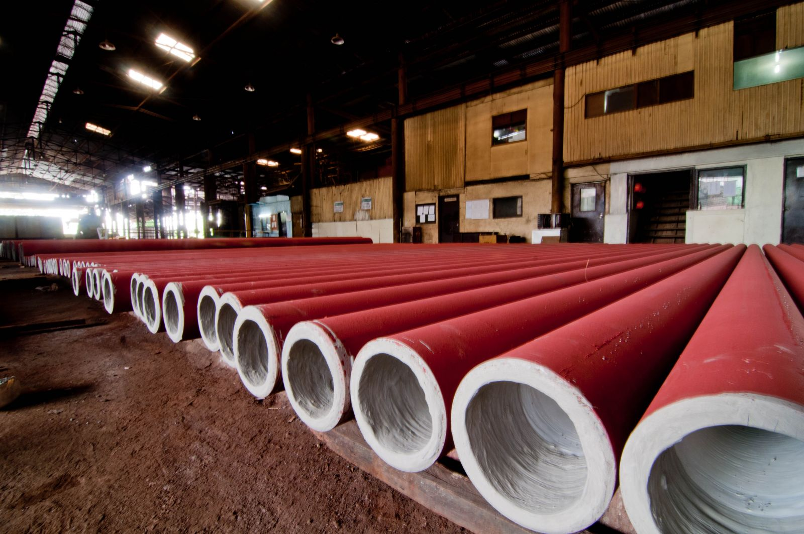Spiral welded steel pipe with protection international